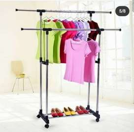Double-Pole Clothes Hanger Stand.