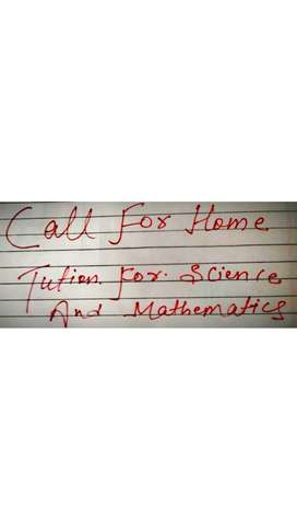 Tutor available for science and mathematics(Class 5 to 10)