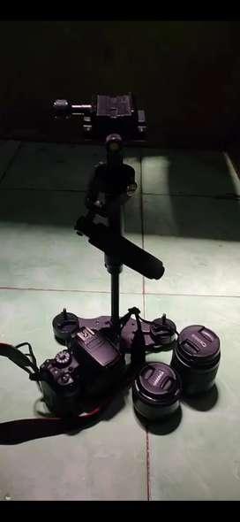 Kamera canon 700d lensa fix & kit .