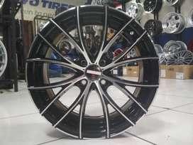 velg mobil ring 16 untuk soluna dll warna black polish