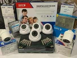 CCTV SPC LENSA 2MP 1080P,DVR 4CH,HD 500GB PLUS PASANG DI RUMAH/KANTOR.