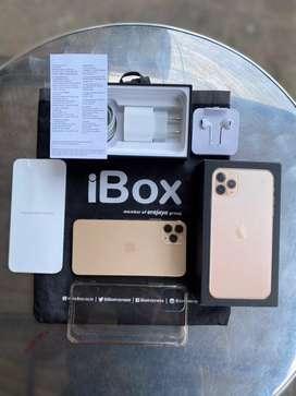 Iphone 11 Pro Max 256GB Gold Garansi Ibox Kondisi Fullset Original