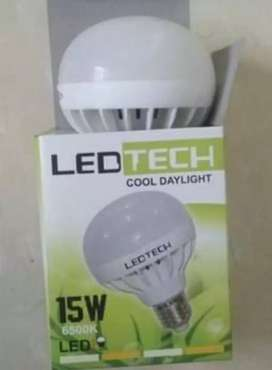 LED TECH 15 WATT 15W Lampu