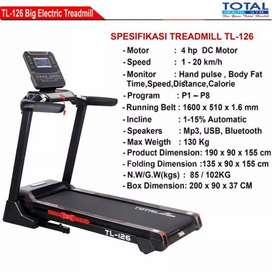 treadmill elektrik TL-126 total Bvt-34 electric 4hp big treadmil