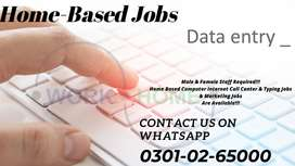 Data entry part time job laptop and computer must be a