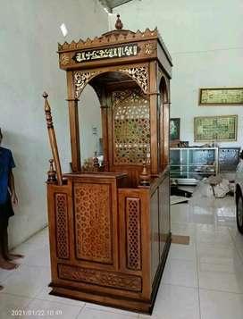 Mimbar masjid kubah miniamlis plus tongkat