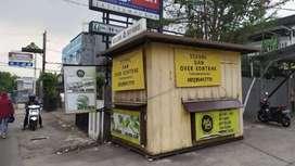 Kontainer, Booth, Kios Jualan, Konter minuman, Outlet Box 2x3 mtr