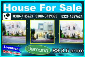 12 MARLA HOUSE FOR SALE IN BAHRIA TOWN
