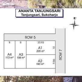 Tanah Jakal KM 13 Pinggir Jalan Aspal Sertpikat SHM