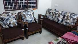 Sofa 3+1+1,teaak wood,10days old