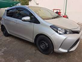 TOYOTA Vitz 2015 Model . Fresh import 2019 silver colour.