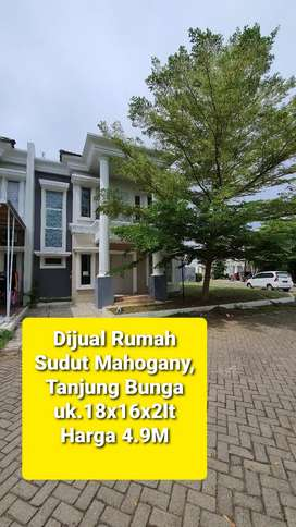 Dijual Rumah sudut Cluster Mahogany,Tanjung Bunga