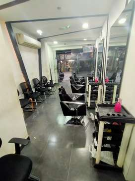 Fully furnished well maintained family salon