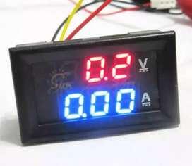Voltmeter dan Amper digital DC 12 Volt