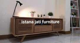 Bufet tv material kayu jati meja tv klassic