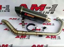 Kenalpot Racing Akrapovic full carbon layang (Pre order)
