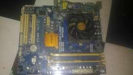 Paket Mobo AMD DDR2/ DDR3+ Procesor+ Ram 2GB