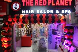 Hair designer unisex salon and experienced beautician