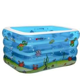 INTIME Kolam Baby Spa Kotak 4 Ring | Pool Renang Anak Bayi