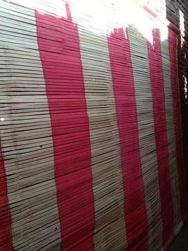 Tirai bambu dan isi bambu dan kulit bambu