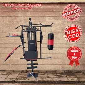 alat angkat beban homegym fitclass home gym 3 sisi  samsak COD Bantul