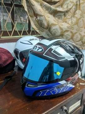 KYT K2R / K2RIDER flat visor + top + tearoff