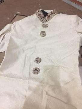 New shervani with chureedaar payjama