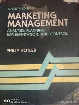 Book of marketing management by philip kotler