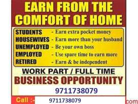 Fixed Salary With Incentives Part Time Work @ Home