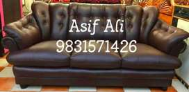Three seater brown softy sofa selling