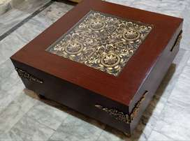 Chonyoti Center Table With Golden work out