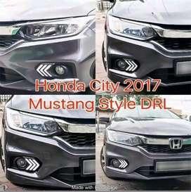 Honda city 2018 fog lights DRL mustang GT style