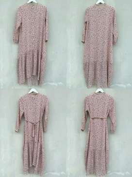 Dress Bunga Pink Import Bangkok