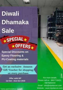 Industrial epoxy flooring Diwali Dhamaka Offer