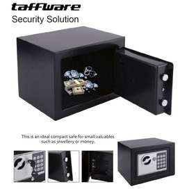 Brangkas Mini Electric Password Safe Box 4.6L-17E Hitam Brankas Aman