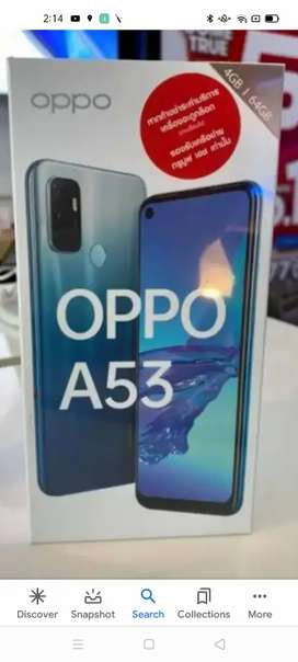 Oppo a53 with complete box and wernty.
