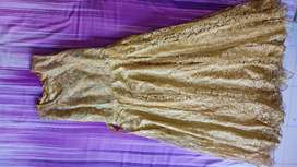 Long golden gown