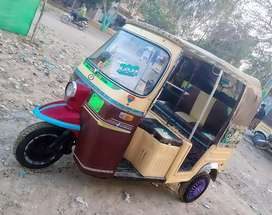 SazGar-2016,Disc-Brake,FuLL PetRoL Rickshaw,White Engine 5 Gear Hai,
