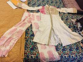 Beech tree embroidered frock and trouser. Size small. Used once