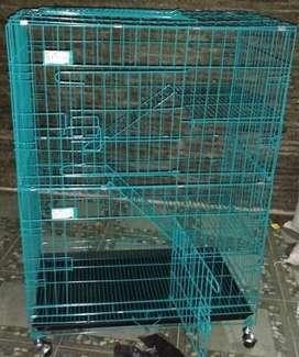 Kandang kucing dll 3susun T1m roda stok baru fset