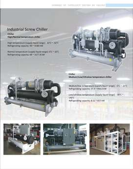 Water Industrial chillers low temperature and HVAC(R) complete range