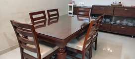 New Teakwood Dining table- 6 chairs