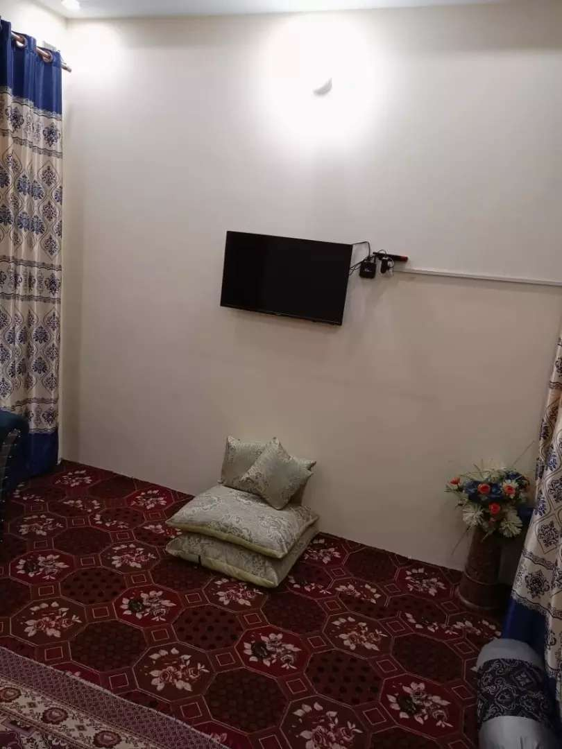 1 bedroom 1 drawing Room Portion avaiable with 2 attach bath