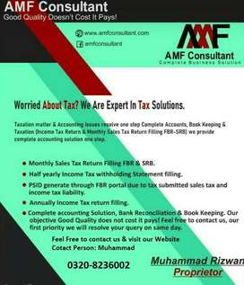 Muhammad  (AMF Consultant) Taxation matter & Accounting Issues resolve