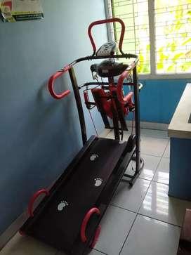 Treadmill manual enam fungsi