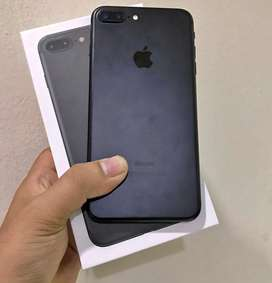 iphone 7 plus 256gb black super istimewa mulus