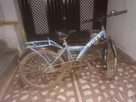 Blue colour bicycle
