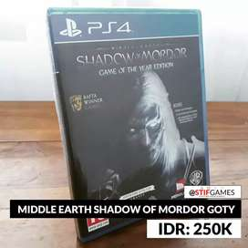 Middle Earth Shadow Of Mordor GOTY - BD PS4