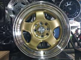 velg racing march ring 15 tipe brisket warna gold polish