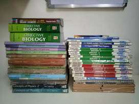 11th and 12th std HSC+CBSE+NEET+AIIMS books (all parts).